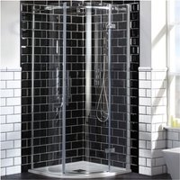 Frontline Aquaglass Elegance 1200x800 Offset Quadrant Shower Enclosure - FRONTLINE BATHROOMS