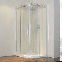 Frontline Aquaglass+ Frameless 1000 X 1000mm Quadrant Shower Enclosure - FRONTLINE BATHROOMS