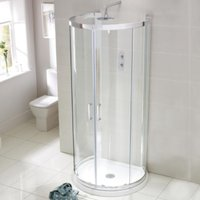 Frontline Aquaglass Purity 900 X 770mm D Shower Enclosure With Tray - FRONTLINE BATHROOMS