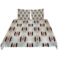 Diamond Duvet Cover Set (Single) (Black/White/Red) - Fulham Fc