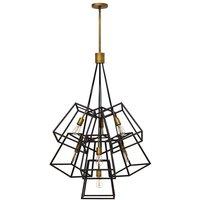 Elstead Lighting - Elstead Fulton - 7 Light Chandelier Bronze Finish, E27