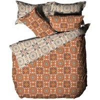Furn Folk Floral Duvet Cover Set (Single) (Orange)