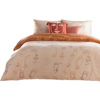 Furn Kindred Abstract Duvet Cover Set (Double) (Apricot)