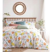 Pommie Duvet Cover and Pillowcase Set (Super King) (Multicoloured) - Furn
