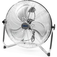 High Velocity Floor Fan Large 20 Inch 50cm 110W Max Power Chrome Fan, Adjustable Heavy Duty 3 Speed Floor Standing Cooling Fan Portable Ideal for the