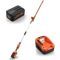 40V cordless pole hedge trimmer - kit - cutting length 52cm E920D - incl. battery and charger - Fuxtec