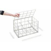 Gabion en kit - 50 cm x 30 cm x 30 cm Maille rectangulaire 50 mm x 100 mm (Agrafes) - RINNO GABION