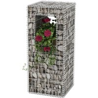 Gabion Basket Post/Planter Steel 50x50x120 cm