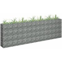Gabion Planter Galvanised Steel 270x30x90 cm