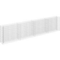 Gabion Raised Bed Galvanised Steel 360x30x90 cm - Silver - Vidaxl