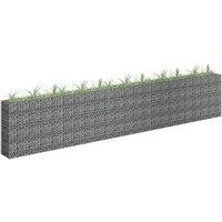 Youthup - Gabion Planter Galvanised Steel 450x30x90 cm