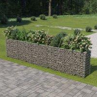 Youthup - Gabion Planter Galvanised Steel 450x50x100 cm