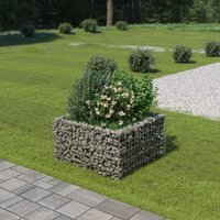 Gabion Planter Galvanised Steel 90x90x50 cm - YOUTHUP