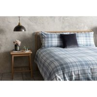 Denim Check 100% Brushed Cotton Single Duvet Cover Set - Gallery Direct