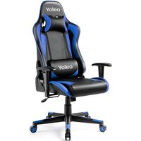 Keepbuying - Gaming Chair Blue- Ergonomic Office Gaming Chair with Lumbar Support, High Back Computer Gamer Chair Adjustable