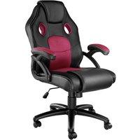Gaming chair - Racing Mike - office chair, computer chair, ergonomic chair - black/burgundy - TECTAKE