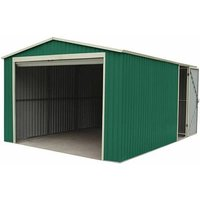 Garage Voiture Métallique Leicester - 17,3 m² Extérieur 512x338x243 cm - gardiun