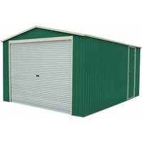 Garage Voiture Métallique Essex 19,5 m² Extérieur 576x338x243 cm Vert - gardiun