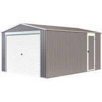 Garage métal 'Nevada' avec porte roulante - 15,61m²