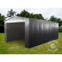Dancover - Garage métallique 3,38x5,76x2,43m ProShed®, Anthracite