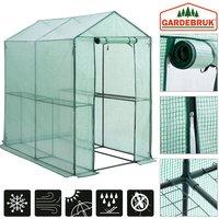Greenhouse 7.3ft² Shelves 6.2x6.1x4ft - Gardebruk