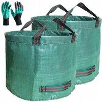 Garden bag Garden bag Leaf bag Garden Waste bag Waste bag 500L * 2pcs