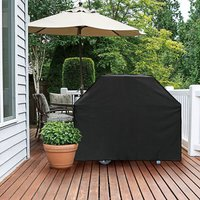 Garden BBQ Cover Waterproof Rain Gas Barbeque Grill Protector Black,145x61x117cm