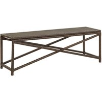 Vidaxl - Garden Bench 120 cm Poly Rattan Brown