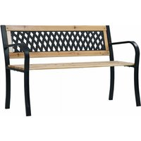 Youthup - Garden Bench 120 cm Wood