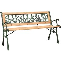 Garden Bench 122 cm Cast Iron and Solid Firwood