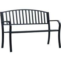 Zqyrlar - Garden Bench 125 cm Black Steel - Black