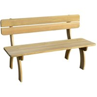 Garden Bench 150 cm Impregnated Pinewood - Brown