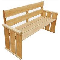 Garden Bench 160 cm Impregnated Pinewood - Brown