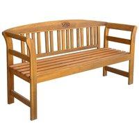 Garden Bench 157 cm Solid Acacia Wood - Brown - Vidaxl