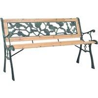 Garden Bench 122 cm Wood Rose-patterned - Brown - Vidaxl