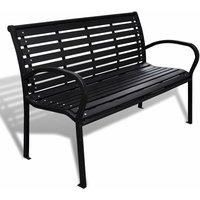 Garden Bench 125 cm Steel and WPC Black - Black - Vidaxl