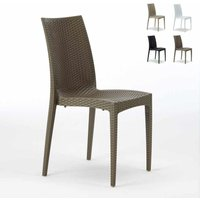 BISTROT Stackable Rattan Garden Indoor Chair by Grand Soleil | Brown