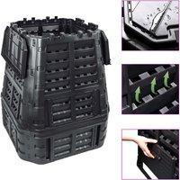Zqyrlar - Garden Composter Black 93.3x93.3x113 cm 740 L - Black