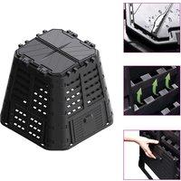 Zqyrlar - Garden Composter Black 93.3x93.3x80 cm 480 L - Black