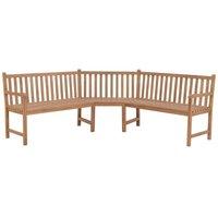 Garden Corner Bench 202x202x90 cm Solid Teak - Brown