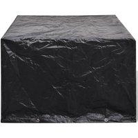 Vidaxl - Garden Furniture Cover Poly Rattan Set 4 Person 8 Eyelets 113 x 113cm - Black