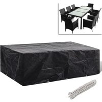 Garden Furniture Cover 8 Person Poly Rattan Set 10 Eyelets 300x140cm VD26614