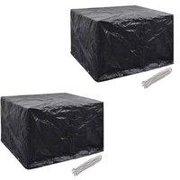 Garden Furniture Covers 2pcs 4 Person Poly Rattan 113x113cm - VIDAXL