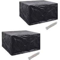Garden Furniture Covers 2pcs 6 Person Poly Rattan 172x113cm - VIDAXL
