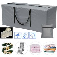 Garden Furniture Cushion Storage Bag, 173*76*51,Anti-UV, Heavy Duty Rip Proof Oxford Fabric Garden Storage Bag Large Protective Patio Cover for
