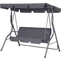 Beliani - Modern Outdoor Swing Dark Grey Polyester Canopy Steel Frame Seat Pad Chaplin