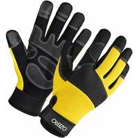 Perle Raregb - Garden Gloves Sports Riding Gloves Outdoor Gloves Touch Screen Gloves Work Gloves Wool-resistant anti-slip gloves, yellow XL