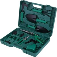 Garden hand tool set, planting kit, garden work tool, gift for leveling enthusiasts (10 pieces)