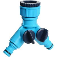Cellfast - Garden Hose Snap In Dual Shut Off Tap Connector Attach 2 Hoses Fits Hozelock