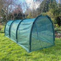 Pro Gro Net Grow Tunnel Cloche and Plant Cover ? 3m long x 1.5m wide x 1.5m high